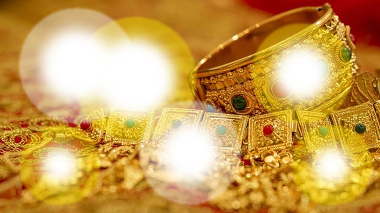 富が光り輝いている