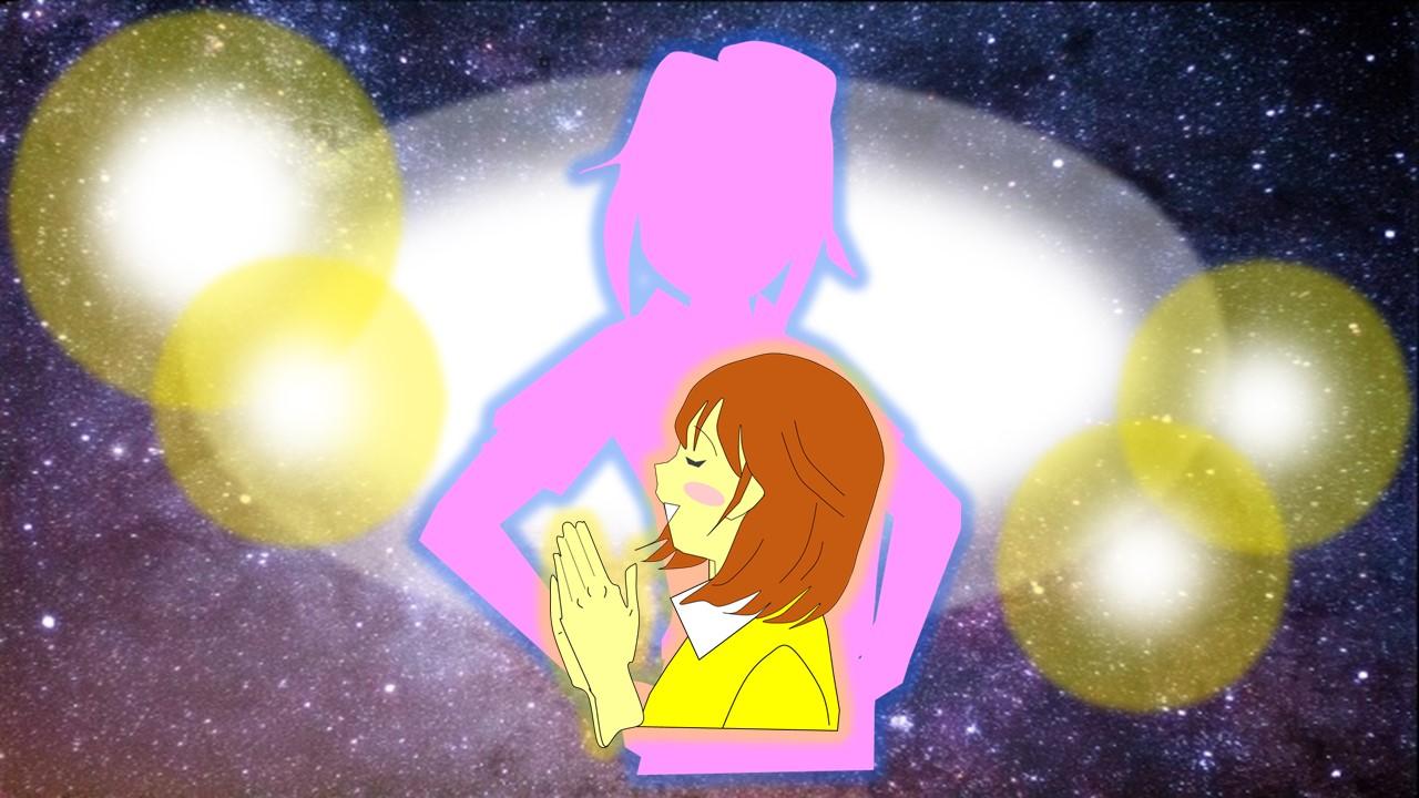 内なる神を喜ばせている女性